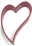 Folk Heart Silver & Red