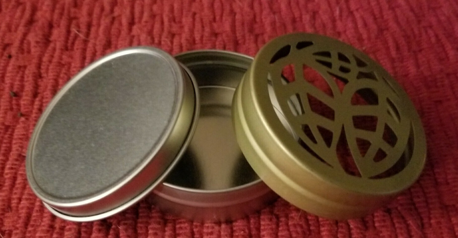 Tin Set (3 piece) with Gold Leaf Lid